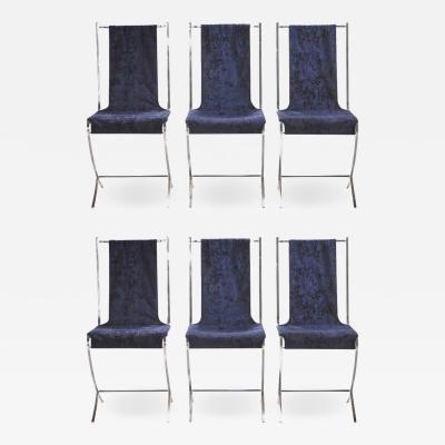 Maison Jansen Set of six chairs by Pierre Cardin for Maison Jansen 1970s