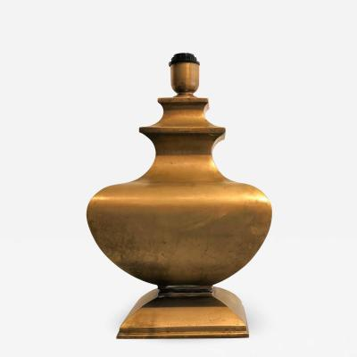 Maison Jansen Solid bronze table lamp atributed to Jansen France 1960s