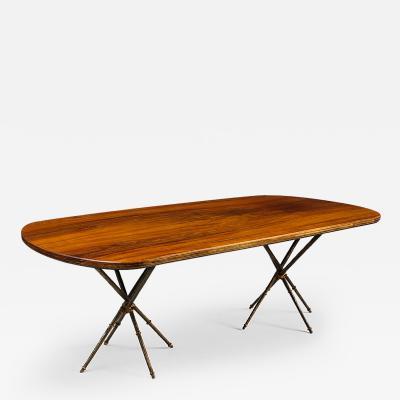 Maison Jansen Twin Pedestal Dining Table