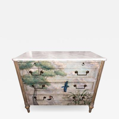 Maison Jansen Venetian Paint Decorated Commode or Bed Stand in the Manner of Jansen