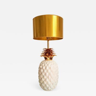 Maison Lancel LARGE CERAMIC PINEAPPLE LAMP MID CENTURY MODERN FRANCE BY MAISON LANCEL