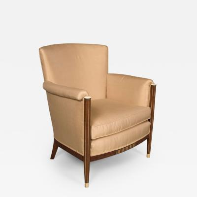 Maison Leleu Early 20th Century Art Deco Club Chair by Maison Leleu France