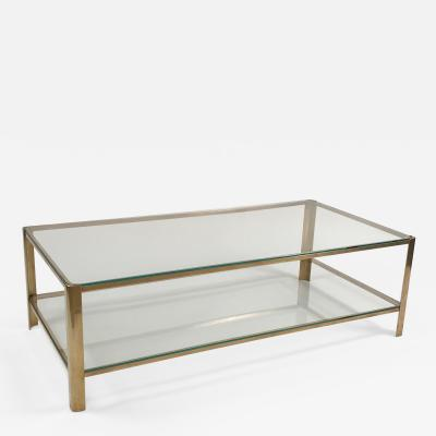 Maison Malabert Two Tier Bronze Coffee Table by Maison Malabert for Jacques Quinet