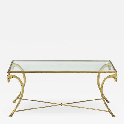 Maison Ramsay Coffee table in gilt iron 1950s