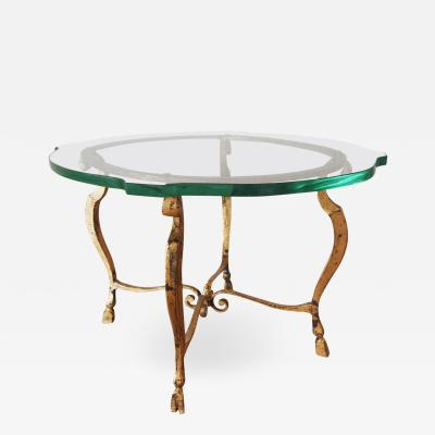Maison Ramsay Gilt Side Table Attributed to Maison Ramsay