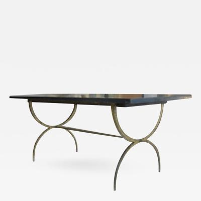 Maison Ramsay Maison Ramsay Rarest Dining Table with Awesome Gold Leaf Base