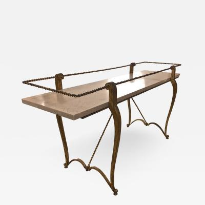 Maison Ramsay Maison Ramsay exceptionnel rarest slender gold leaf iron coffee table