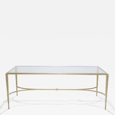 Maison Ramsay Maison Ramsay gilt wrought iron coffee table 1960 s