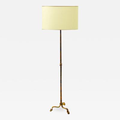 Maison Ramsay Maison Ramsay gold leaf wrought iron floor lamp