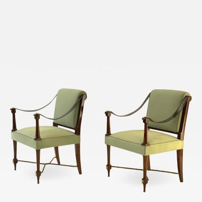 Maison Ramsay Maison Ramsay stamped pair of classy Neo classical arm chair
