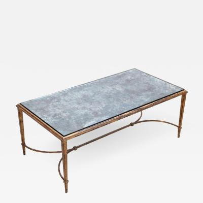 Maison Ramsay Rare Silver Plated Glass Maison Ramsay Coffee Table in Gold Leaf