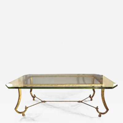Maison Ramsay Rare coffee table by Maison Ramsay France 1950s