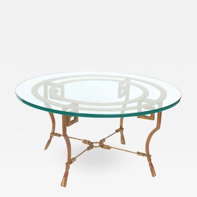 Maison Ramsay Rare gilt wrought iron table by Maison Ramsay