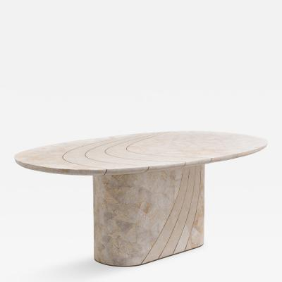 Maitland Smith A Maitland Smith Tessellated Stone Veneered Dining Table 1980s