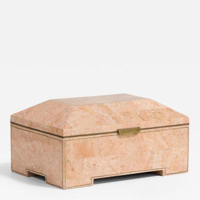 Maitland Smith A Maitland Smith designed Tessellated Stone Lidded Box 1980s