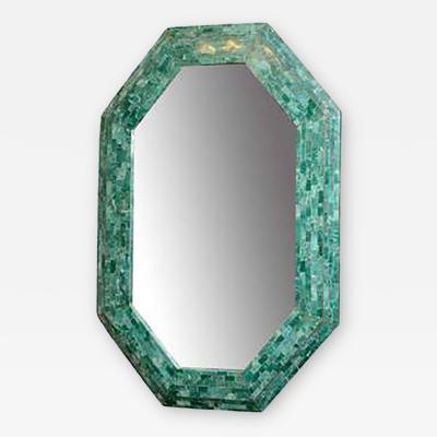 Maitland Smith Elegant Emerald Maitland Smith Large Tessellated Marble Mirror