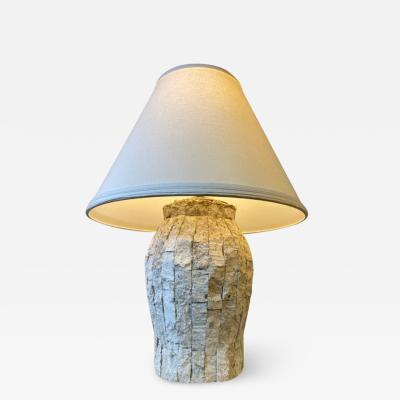 Maitland Smith MODERN TESSELLATED CORAL LAMP BY MAITLAND SMITH