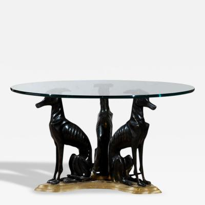 Maitland Smith Maitland Smith Bronze and Brass Whippets Coffee Table