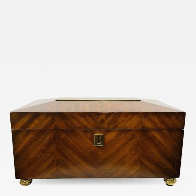 Maitland Smith Maitland Smith Decorative Mahogany Wood Box with Brass Trim