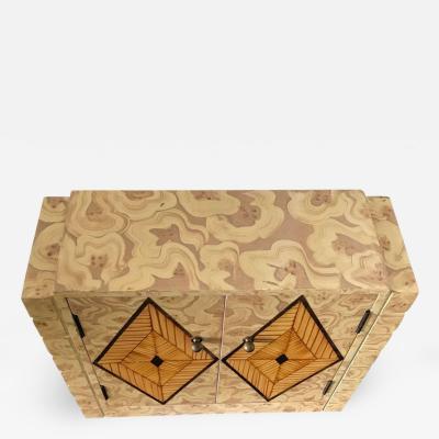 Maitland Smith Maitland Smith Faux Malachite Tabletop Cabinet