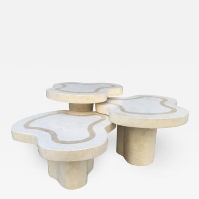 Maitland Smith Maitland Smith Tessellated Fossil Stone Tables