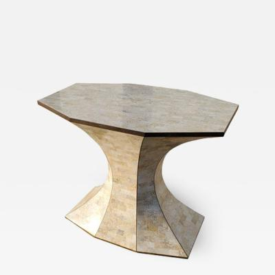 Maitland Smith Maitland Smith Tessellated Marble Bronze Inlay Console Table