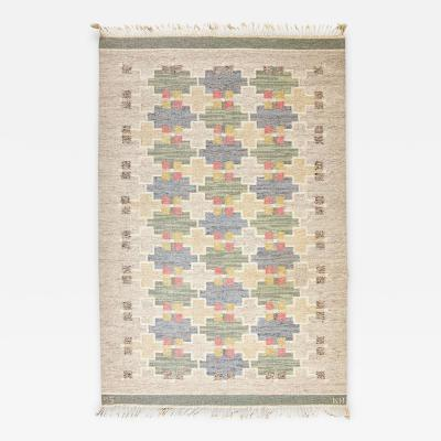 Maj Svanstrom Maj Svanstrom Swedish Flat Weave Carpet