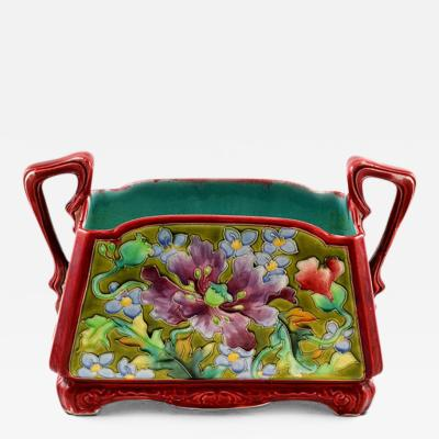 Majolica Planter Art Nouveau Period