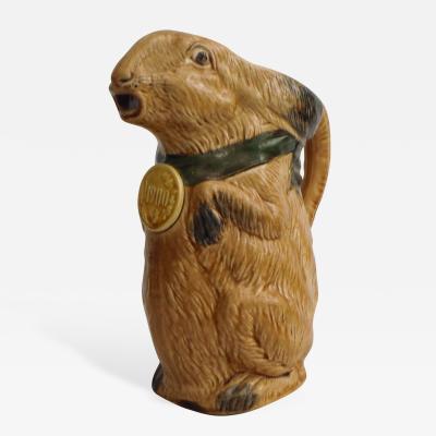 Majolica Rabbit Pitcher C 1900