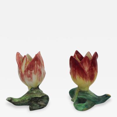 Majolica Tulip Vase Massier
