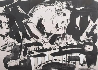 Malcolm Morley Malcolm Morley Abstract Expressionist Lithograph 1983