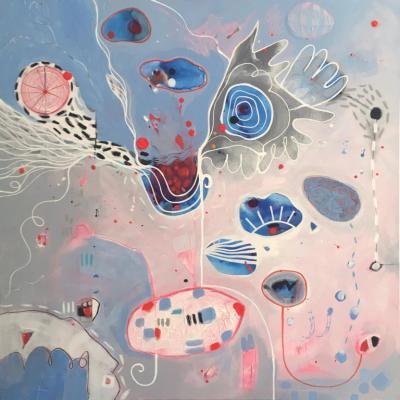 Malgosia Kiernozycka IKARUS Blue Pink Abstract