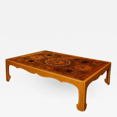 Mallet London A Custom Made Oyster Veneered Low Table by Mallet London