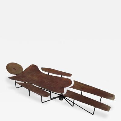 Man of Steel Sculptural Chaise Lounge