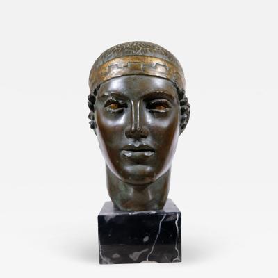 Manolis Paraschos Greek Athlete Bronze Bust