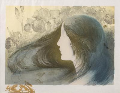 Manuel Orazi French Lithograph by Emanuel Oraz