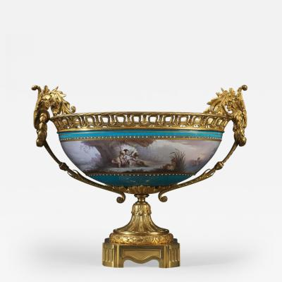 Manufacture Nationale de S vres A Fine S vres Gilt Bronze Mounted Porcelain Coupe