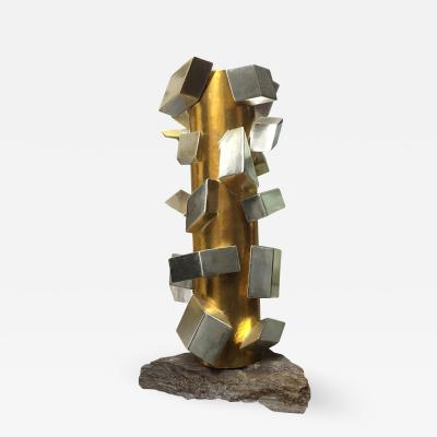 MarGian Studio Inc Gilt White Gold Cubist Sculpture