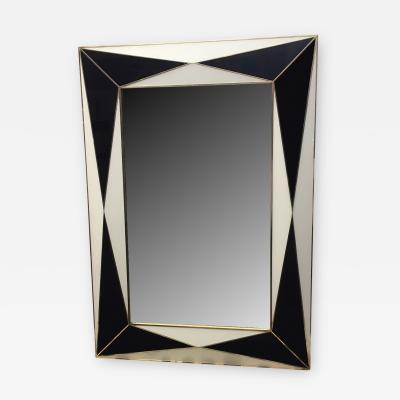 MarGian Studio Inc Midnight Blue and White Glass Expansion Mirror