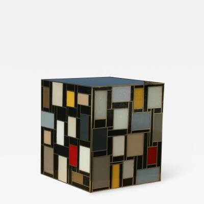 MarGian Studio Inc Mondrian Glass Side Table
