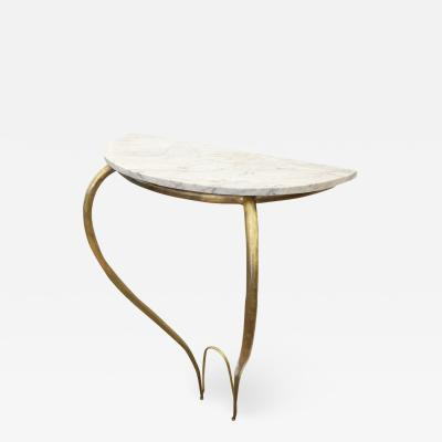 Marble and Brass Console Italy 1950s