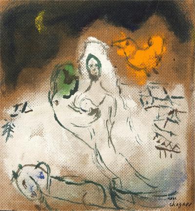 Marc Chagall Le Couple au Tra neau