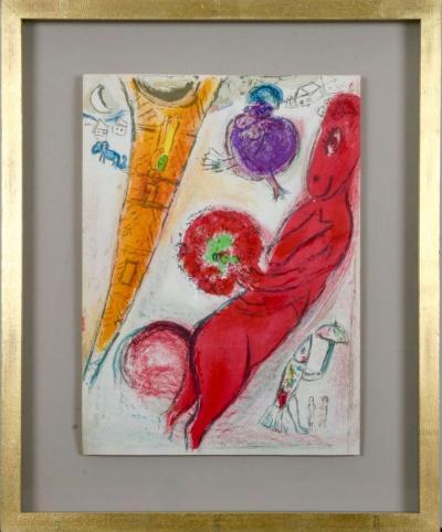 Marc Chagall Marc Chagall Paris Fantastique Original colour lithographs 1954