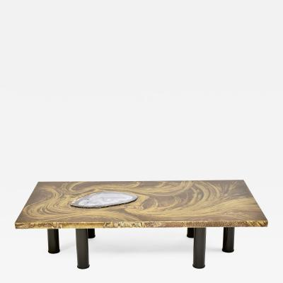 Marc D Haenens Brass etched coffee table by Marc DHaenens