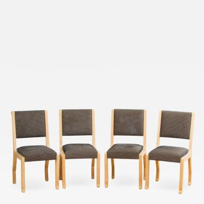 Marc Du Plantier A set of four French chairs in the manner of Marc Du Plantier circa 1990