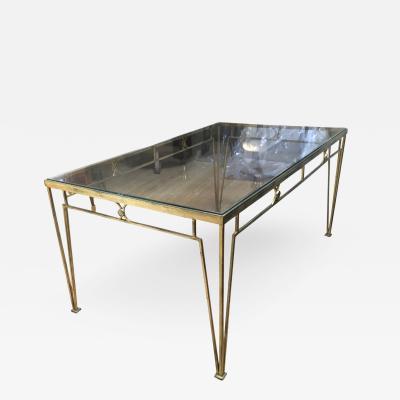 Marc Du Plantier Marc Duplantier Gold Leaf Wrought Iron Dining Table