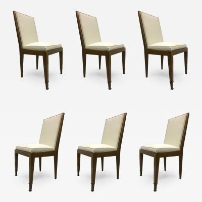 Marc Du Plantier Marc Duplantier Rare Set of 6 Oak Dining Chairs
