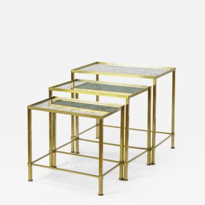 Marc Du Plantier Marc du Plantier gold bronze nesting tables
