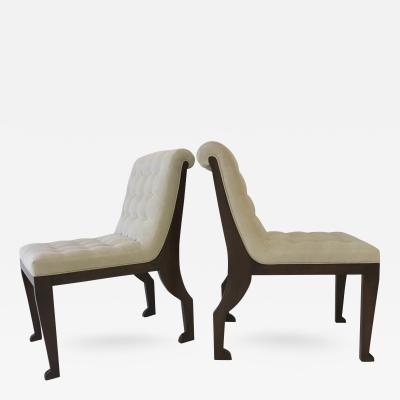 Marc Du Plantier Pair of Egyptian Chairs after Marc Du Plantier