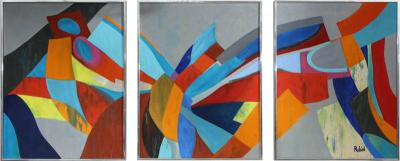 Marc Rubin The Unfoldment Tryptych Acrylic on Canvas by Marc Rubin